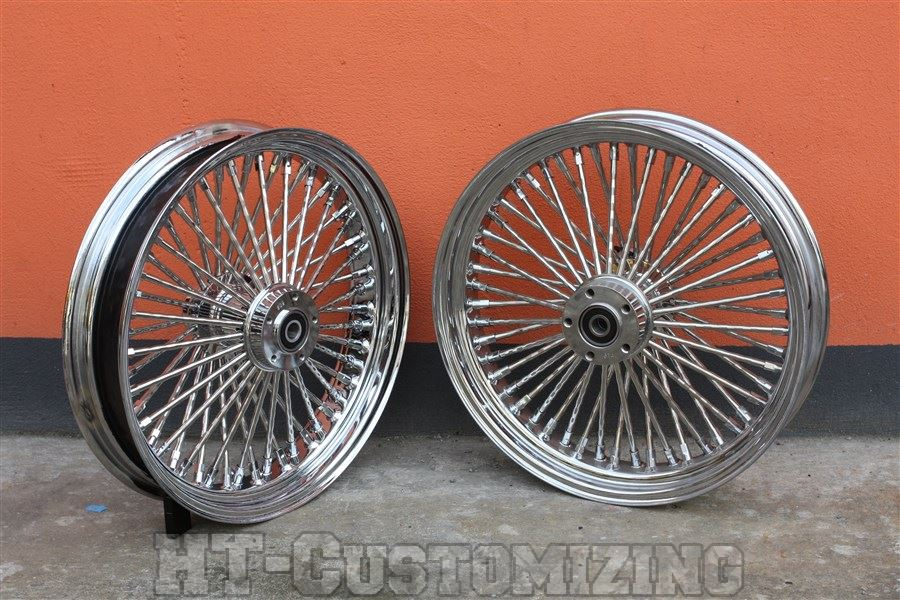 harley davidson fat boy big spoke felgen 52 diamondcut speichen 18x3 5 neu top ebay